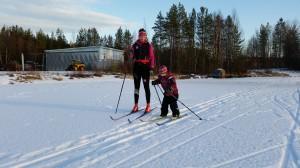 Ebba Stina och jag på Storskabram
