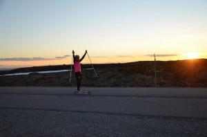 I mål på toppen av Dundret! Foto: Runi Wold, Skiproam